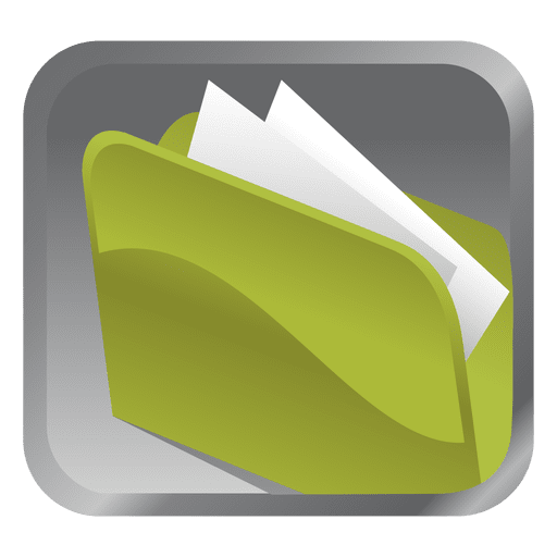 Green Folder Square Icon