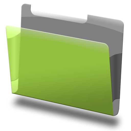 Labeled, Green, Folder Icon Free Of Bundle Icons