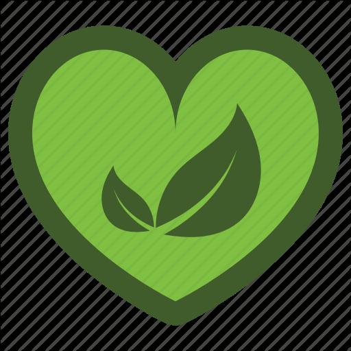 Go, Green, Heart, Icon, Leaf, Love Icon