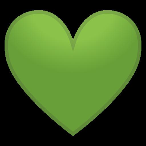 Green Heart Icon Noto Emoji People Family Love Iconset Google