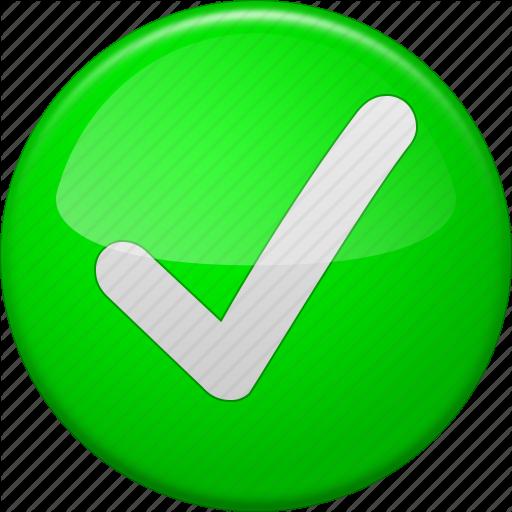 Accept, Approve, Check, Confirm, Ok Button, Tick, Yes Icon