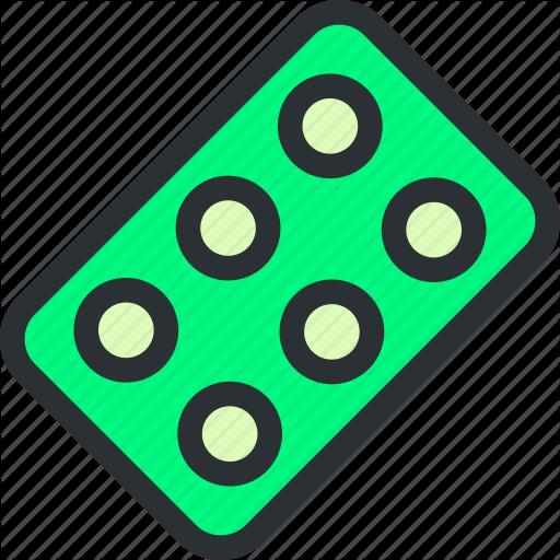 Blister, Capsule, Drugs, Health, Medical, Pack, Pills Icon