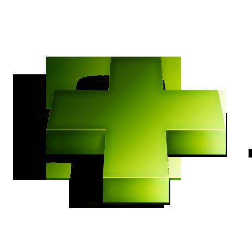 Green, Plus Icon