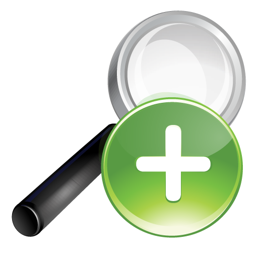 Plus, Search, Green Icon
