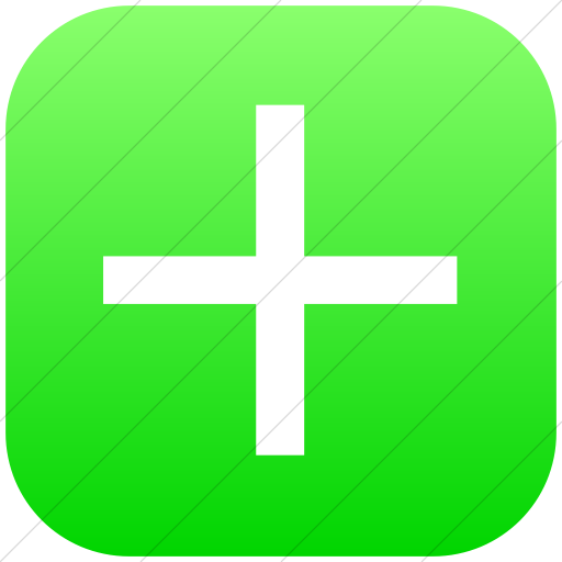 Flat Rounded Square White On Ios Neon Green Gradient