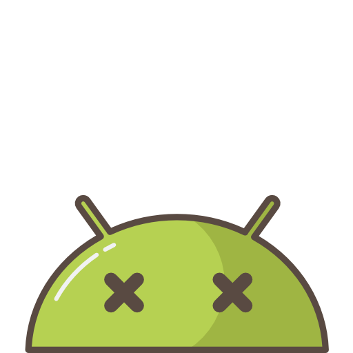Android, Robot, Mobile, Mood, Emoji, Crash, Bug, Dead Icon Free