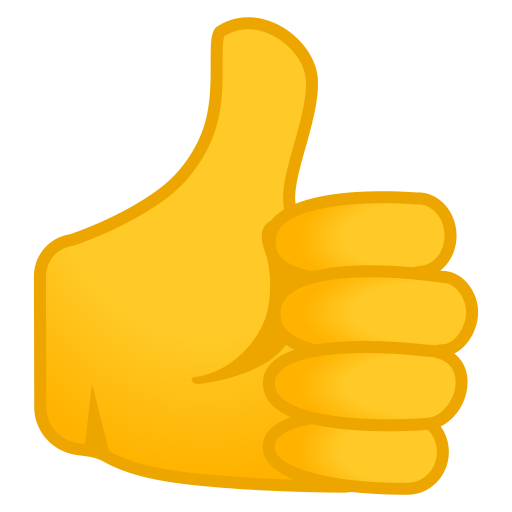 Thumbs Up Icon Noto Emoji People Bodyparts Iconset Google