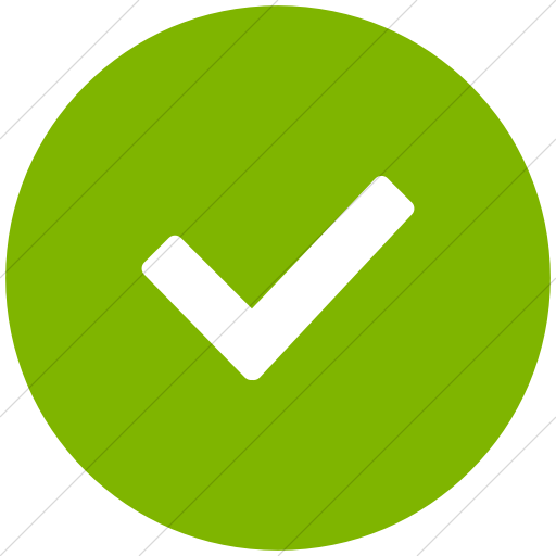 Flat Circle White On Green Broccolidry Checkmark Icon