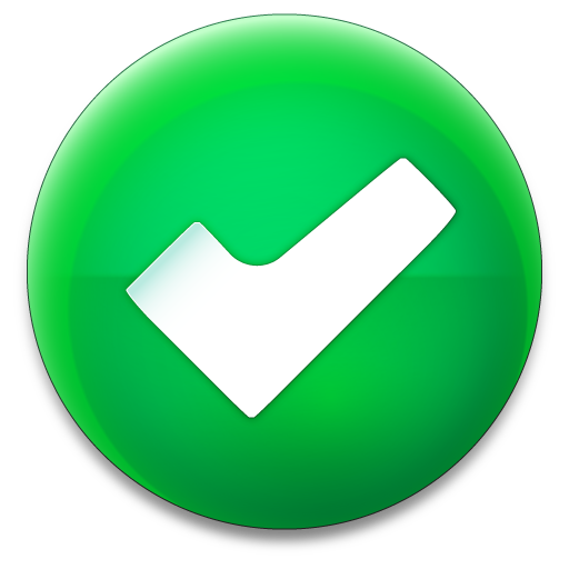 Green Tick Button Icon Download Free Icons