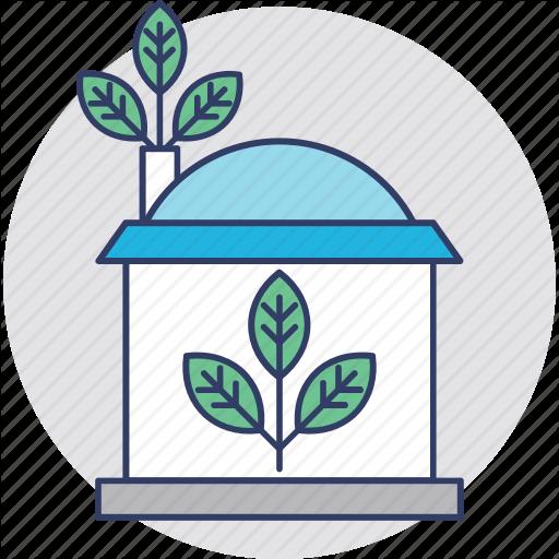 Eco Friendly, Eco House, Ecology, Glasshouse, Greenhouse Icon