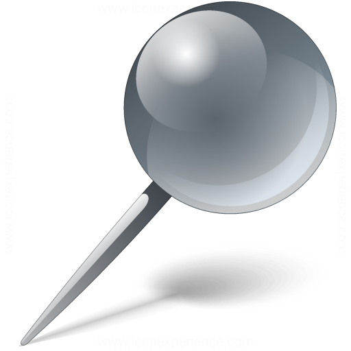 Iconexperience V Collection Pin Grey Icon