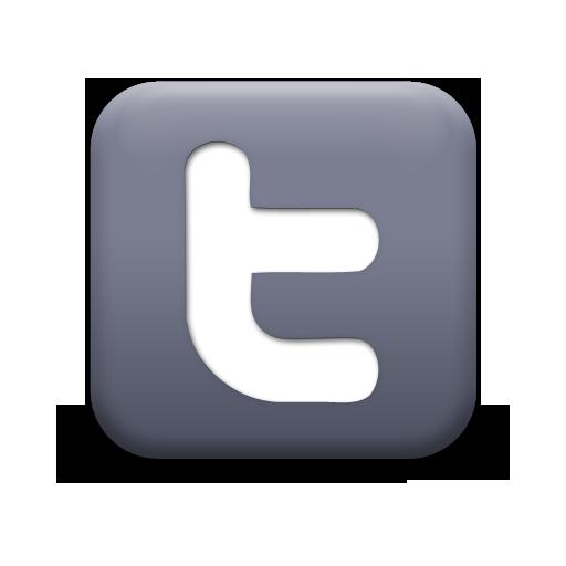 Matte Grey Square Icon Social Media Logos Twitter E C Myers
