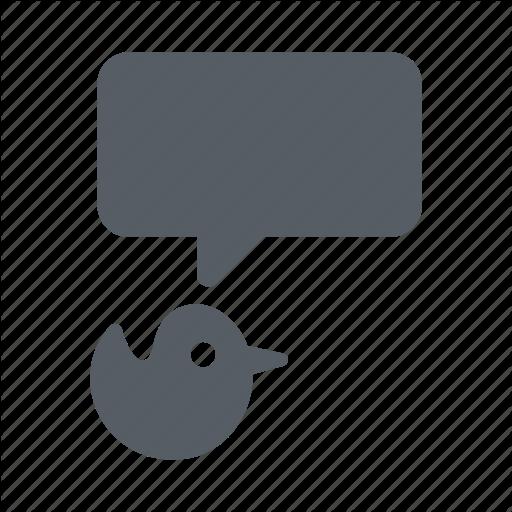 Bird, Bubble, Message, Talk, Tweet, Twitter Icon