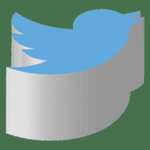 Twitter Isometric Icon