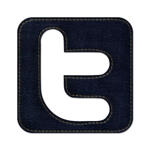 Twitter Square Icon Blue Jeans Social Media Iconset