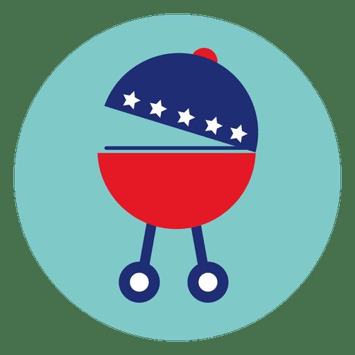 Barbecue Stove Round Icon