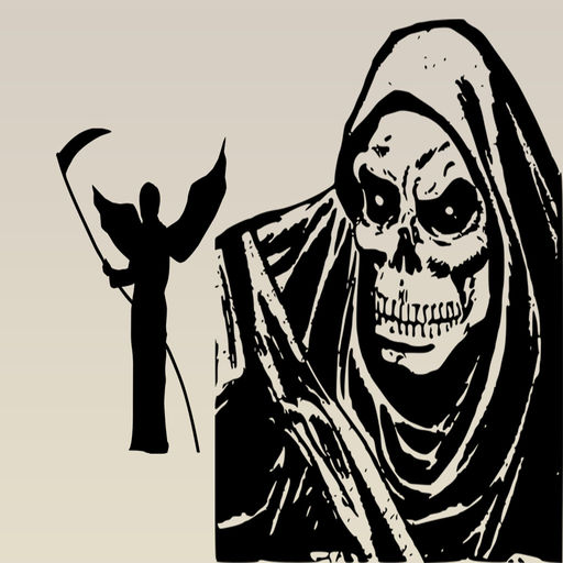 Grim Reaper Death Is Coming Stickers