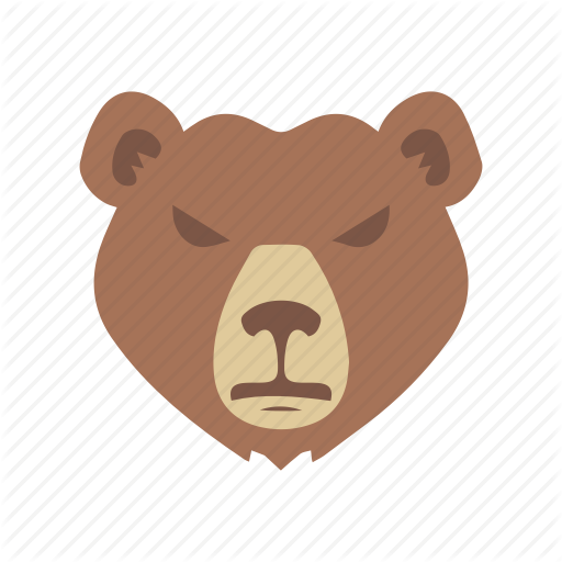 Bear, Bear Market, Grizzly Bear, Stock Market Icon