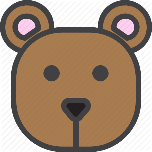 Bear, Grizzly, Head Icon