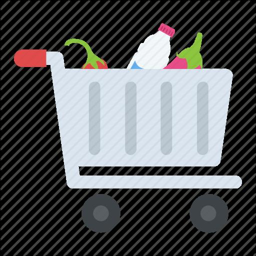 Full Grocery Cart, Grocery, Grocery Cart, Grocery Shopping