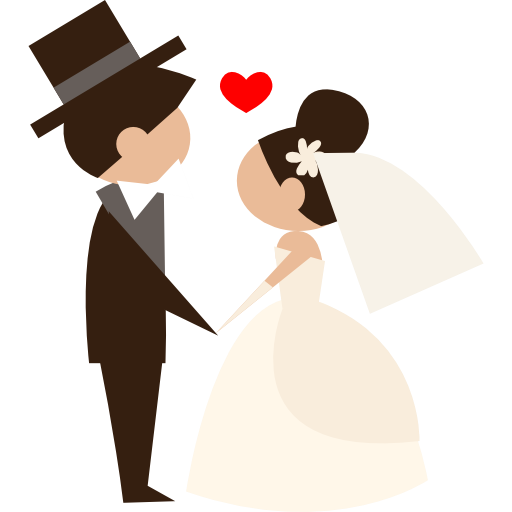 Bride, Wedding Couple, Romantic, People, Groom Icon