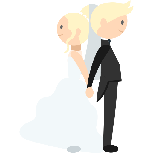 Wedding Couple, Romantic, People, Bride, Groom Icon