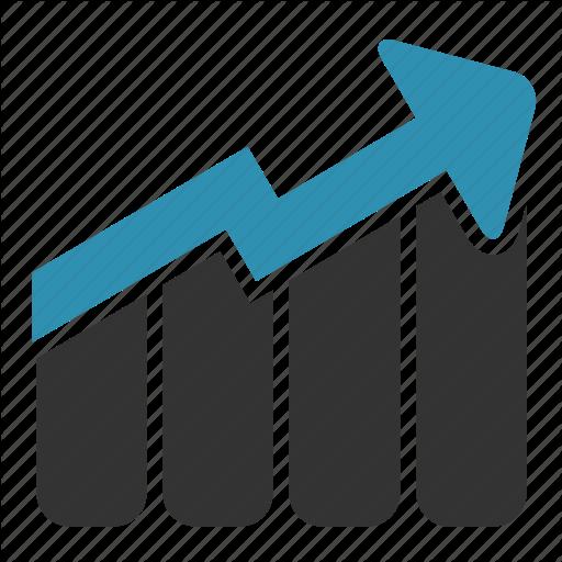 Arrow, Bars, Chart, Growth, Sales Icon Icon