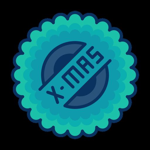 Sticker, Badge, Grunge, Orange Icon