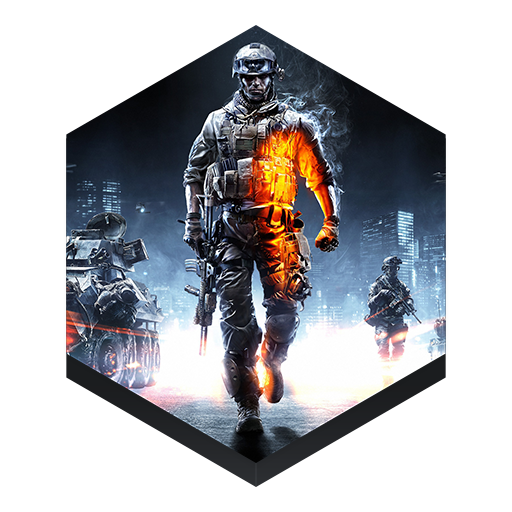Game Battlefield Icon Hex Iconset