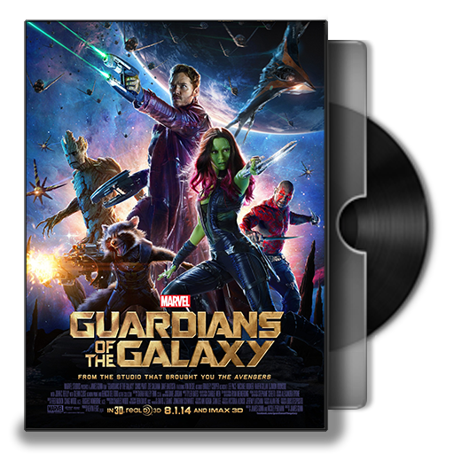 Guardians Of The Galaxy Dvd Folder Icon