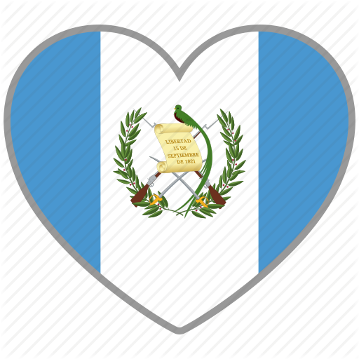 Country, Flag, Flag Heart, Guatemala, Love, Nation Icon