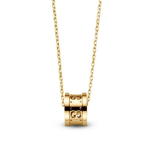 Gucci Icon Twirl Ct Gold Pendant Necklace Hugh Rice