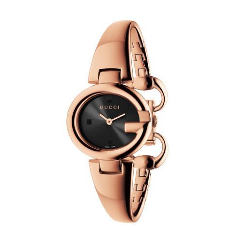 d7645b23808 Gucci Guccissima Rose Gold Pvd Mm Oval Bangle Watch Hugh Rice