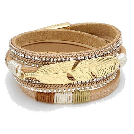 Wrap Feather Bracelet