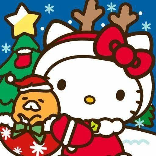 Gudetama Et Kitty Merry Christmas Hello Kitty