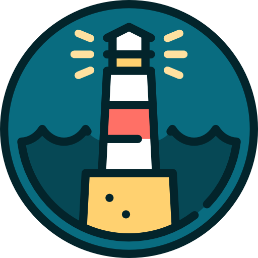Lighthouse, Guide, Buildings, Light, Navigation, Nature Icon