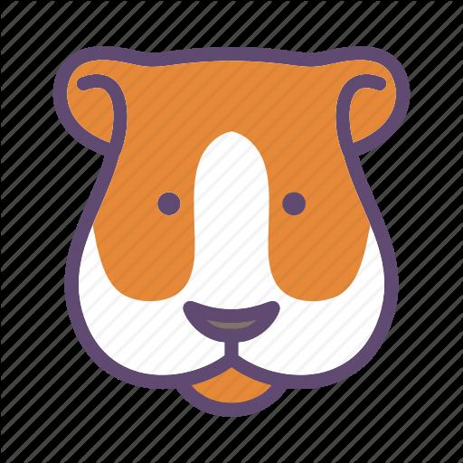 Animal, Cavy, Farm, Guinea Pig, Head Icon
