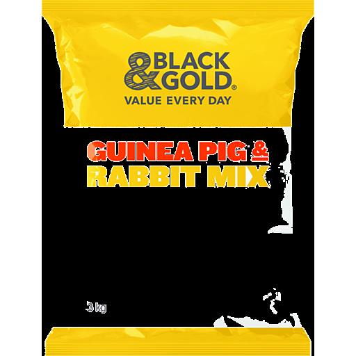 Black Gold Guinea Pig Rabbit Mix