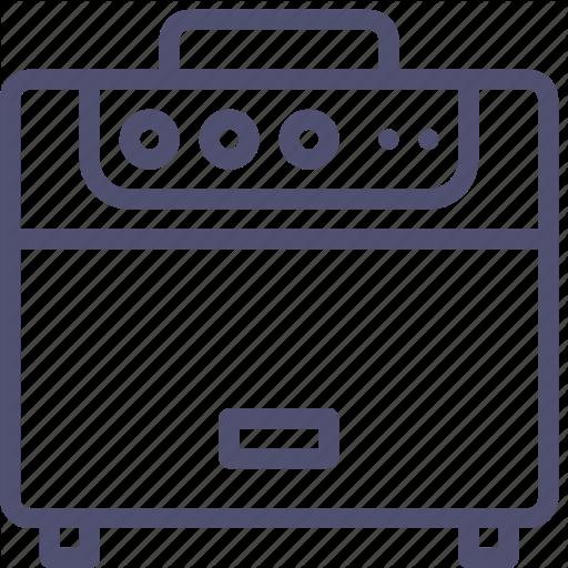 Amplifier, Audio, Guitar, Music, Radio, Sound, Speaker Icon