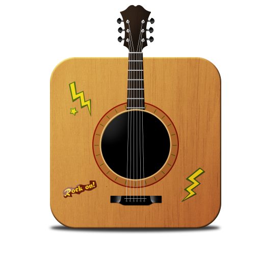 Guitar Icon Cubicons Iconset Andreas Myrup