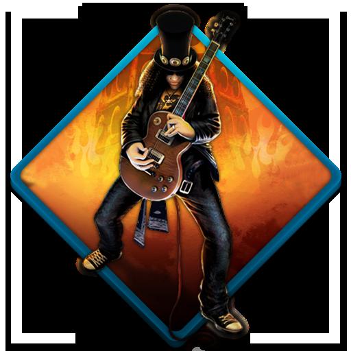 Guitar Hero B Icon Water Gaming Iconset Tooschee