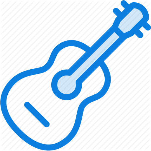 Acoustic, Blue, Guitar, Icons, Instrument, Light, Melody, Music