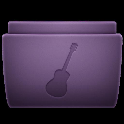 Purple Guitar Icon