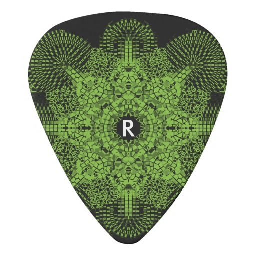 Color Your Own Monogrammed Mosaic Guitar Pick Guitar Picks