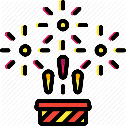 Colours, Display, Explosion, Fireworks, Light Icon