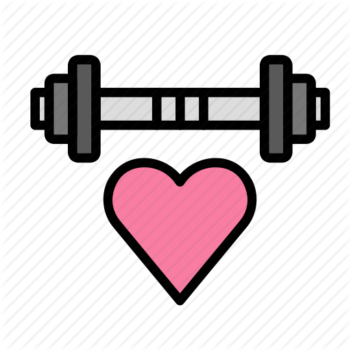 Dumbells, Fitness, Gym, Heart, Sport Icon