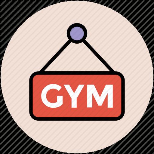 Fitness Club, Gym, Gym Sign, Gym Signboard, Gymnasium, Hanging