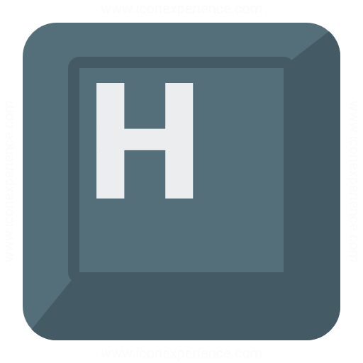 Iconexperience G Collection Keyboard Key H Icon