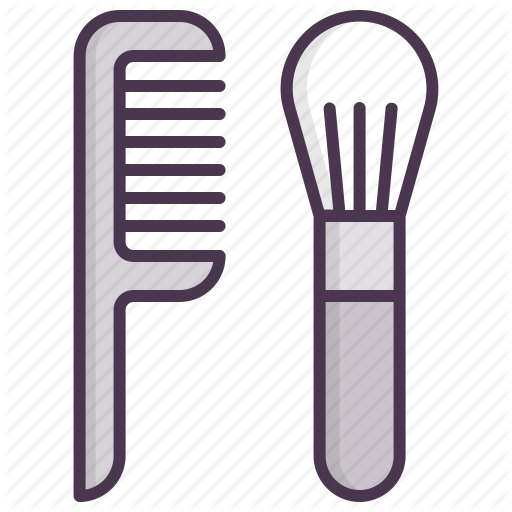 Tools, Hairbrush, Cosmetcis, Beauty, Hair, Brush, Care Icon