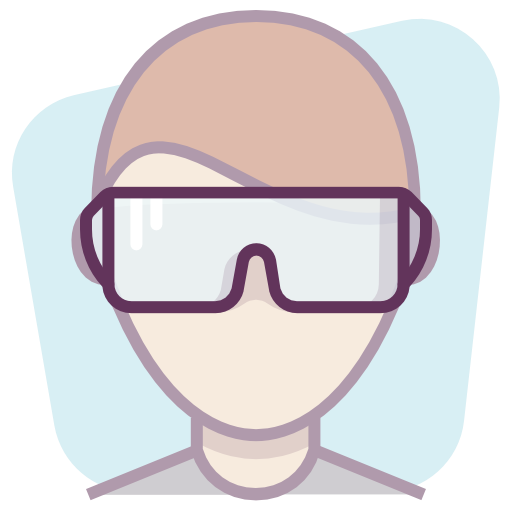 Construction, Protection, User, Worker, Glasses Icon Free